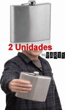 2 x Petaca de metal gigante 1 Litro, regalo ideal, fiesta,celebración,17x17x4 cm
