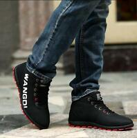 Fashion Men's Fashion Sneakers Winter Warm Lace Up Casual Running Jogging Shoes