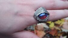 Angel Wing Ring with Dragon's Breath Fire Opal Stunning Victorian SALE Fall Gift