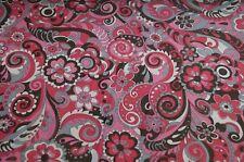 Netzstoff Netz Jersey Stoff pink bunt Blumen Meterware #0533