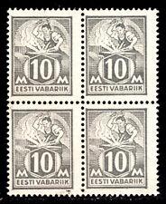 ESTONIA #89 10m GREY, 1928 BLOCK/4, VG, UNUSED