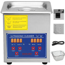 New Pro 2 Liters Ultrasonic Cleaners Cleaning Equipment Jewelry