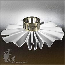 DYRBERG/KERN Denmark Kaleidoscope Antique Brass Swarovski Crystal Ring Size 6.75