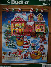 Bucilla Felt Jeweled Christmas ADVENT CALENDAR Holiday Kit,SANTA'S HOUSE,32256