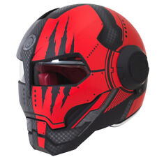 Motorcycle Helmet Iron Man Cool Mask Full Retro Flip-up DOT Motocross ECE Helmet