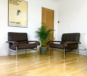 Super Stylish Pair Of Mid Century Pieff 'Gamma' Lounge / Easy Chairs