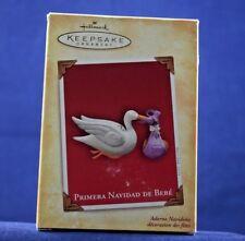 2004 Hallmark Ornament PRIMERA NAVIDAD DE BEBE Porcelain NEW