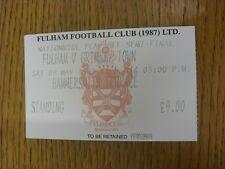 09/05/1998 BIGLIETTO: play-off semi-finale Divisione 2-Fulham V Grimsby Town. l'articolo a