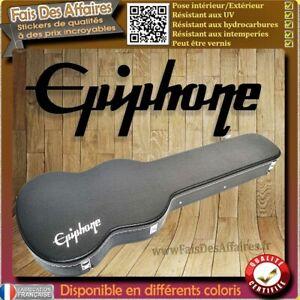 sticker autocollant Epiphone Guitare étuis décoration decal Case guitare