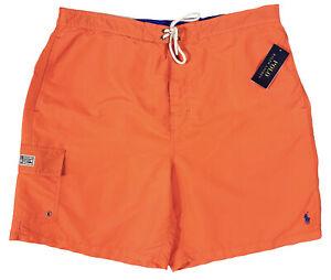 Men's POLO RALPH LAUREN Orange Swimsuit Swim Trunks 1XB BIG NWT NEW Beach