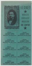 Gerald Heaney The Magician 1930'S Wisconsin Tickets & Handbill Good Luck To You