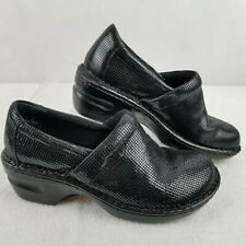 boc Born Concepts Womens Clogs Mules 6.5M Black Small Check Pattern Leather