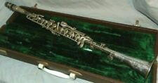 "Antique Pertin Clarinet w/ Case Sn 4782 25-7/8"" Long Nickel Silver Plated"