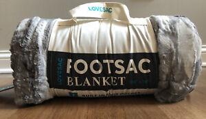"""LoveSac Footsac Blanket Silver Liger Phur NIB 50""""x70"""""""