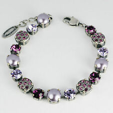 Grevenkämper Armband Swarovski Kristall Pavé Perlen Tennis Silber lila Lila-Mix
