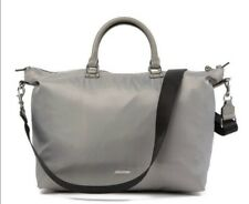 New Rebecca Minkoff Mott Nylon Weekend shoulder Bag Pearl Grey