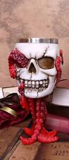 Novelty Octopus Skull Goblet Chalice Occult Cup Ornament