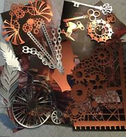 Craft clearout mix, card toppers / paper die cuts, bundle joblot vintage mcb1