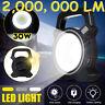 Solar 2000000Lumen Work Flood Light Garden Work Spot Lamp USB Phone Charger US