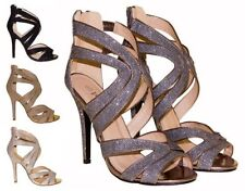 Stiletto Evening Patternless Sandals & Beach Shoes for Women