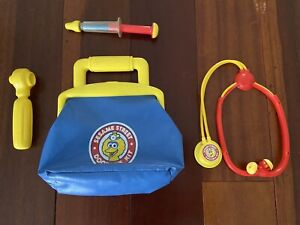 Sesame Street Doctor's Kit Medicine Bag & Medical Tools Big Bird Tyco 1993