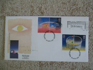 1991 EUROPE IN SPACE GPO COVER, LISTED LOUGHBOROUGH UNIV. OF TECHNOLOGY SLOGAN