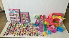Shopkins Lot Of 126 with 2 Lil Shoppies Dolls & Juice Truck, Cards & Lunch Box