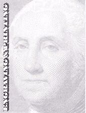 BEP Souvenir Card B52 Mint Visitors Center George Washington DC Vignettes