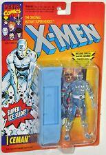 X-Men Original Super Ice Slide Iceman figure & Trading Card MOC VHTF ToyBiz 1993