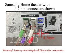 6 speaker cables/wires made for Select Samsung home theater 77ft 4.2mm connector