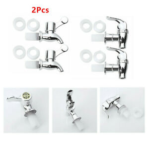 2 Set Spigots Replacement for Barrel Wine Beer Beverage Juice Dispenser Carafes