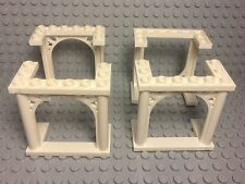 LEGO New Bulk X4 White Arch Ornamented Parts 3x6x5 / Wedding / Cake Topper Stand