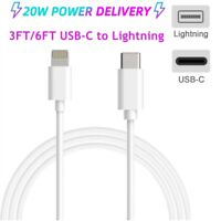 6ft 20W PD USB-C Cable Fast Charging Cord For iPhone 12 11 Pro Max XR XS 8P iPad