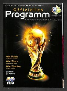 2006 FIFA World Cup football Tournament PROGRAM German Issue Italy Wins #4 Title