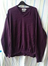 Mens Jumper By TU Red Mix Size XL Pure Cotton Uber Comfy Casual