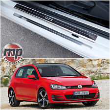 VW Golf Mk7 2013 > GTI Acero Inoxidable Placa de Puerta Del Coche Protectores De Repisa - 4pce