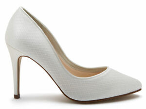 Rainbow Club Cassidi - Ivory Cosmic Lace Womens Wedding Court Bridal Shoes