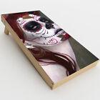 Skin Decal for Cornhole Game Board 2xpcs. / Sugar Skull Girl