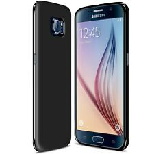 Coque Samsung Galaxy S6 Semi Rigide Gel Extra Fine Mat/Brillant TPU Opaque Noir