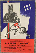 More details for gloucester v coventry rugby union 1968