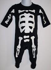 Carters Halloween Costume Baby SKELETON 6 Month Infant 1 Piece GLOW IN THE DARK