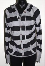 Levi Stripped Black & Grey Knit Jumper: Size Small
