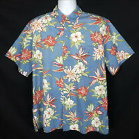 Reyn Spooner Phil Edwards Hawaiian Shirt Mens L Short Sleeve Button Front Floral