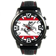Italy Tuscany Flag Mens Style Black Silicone Strap Quartz Wrist Watch S478F