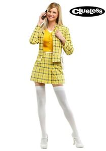 Women's Clueless Cher Yellow Plaid Costume Size XS S L 1X 3X (Used)