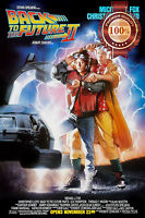 NEW BACK TO THE FUTURE 2 II TWO MOVIE ORIGINAL CLASSIC ART PRINT PREMIUM POSTER