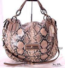 COACH Kristin Python Leather Beige Large Hobo Shoulder Crossbody Bag 16935 Mint
