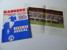More details for glasgow rangers fc 1964-65 annual the supporters association + poster