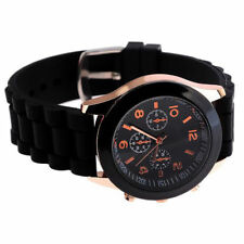 New Black Silicone Band Wristwatch 24 cm  Gift Unboxed