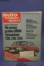 AMS Auto Motor Sport 11/77 Honda Accord BMW 730 Fiat 127